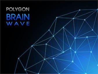 Abstrack Background Polygon Brainwave
