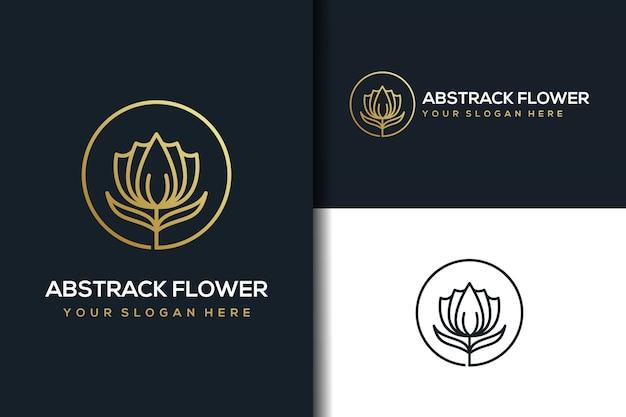 Абстрактный цветочный дизайн логотипа Premium векторы