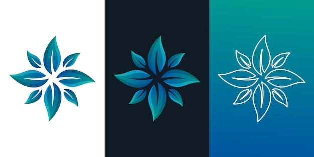 Abstrack花のロゴ