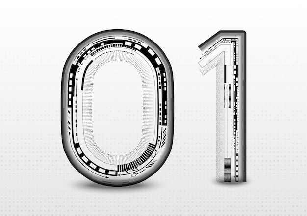 Abstract 01 font alphabet