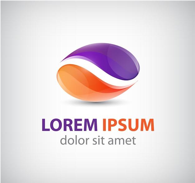 Абстрактный 2 значок двойного партнерства, логотип изолированные
