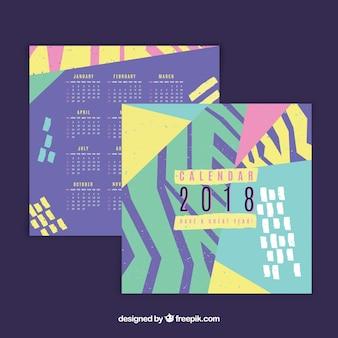 Abstract 2018 calendar
