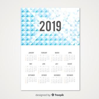 Abstract 2019 calendar