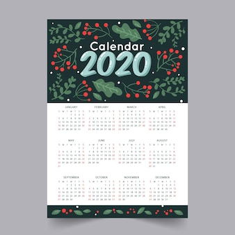Abstract 2020 calendar template