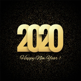 Abstract 2020 new year greeting background