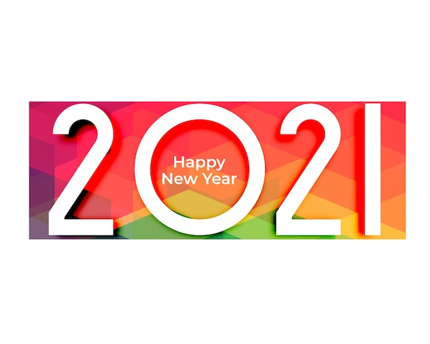 Abstract 2021 happy new year colors background