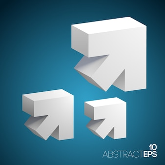 Набор абстрактных 3d стрелка
