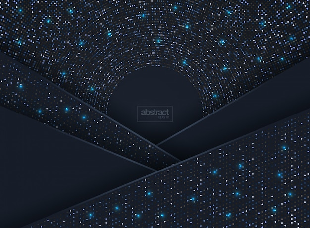 Abstract 3d background with a combination of luminous dots in 3d style