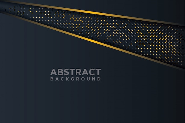 Abstract 3d background with a combination of luminous dots in 3d style.