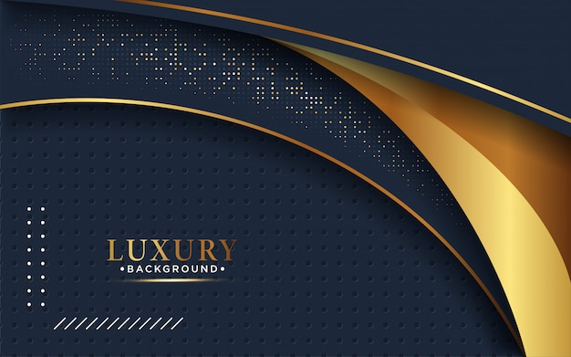 Abstract 3d background with a combination of luminous gold dots in 3d style.