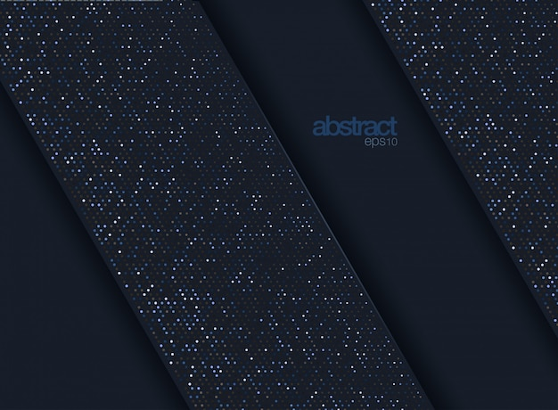Abstract 3d background with a combination of luminous gold dots in 3d style