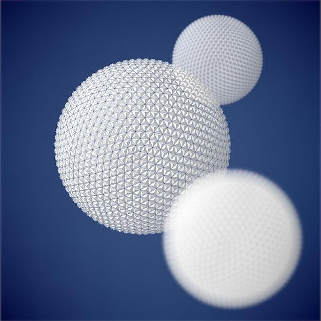 Абстрактный фон 3d с элементами геометрического дизайна креативная концепция векторный фон