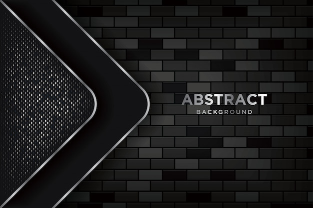 Abstract 3d background with realistic dark brickwalls