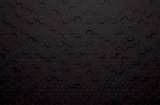 Abstract 3d black polygon background