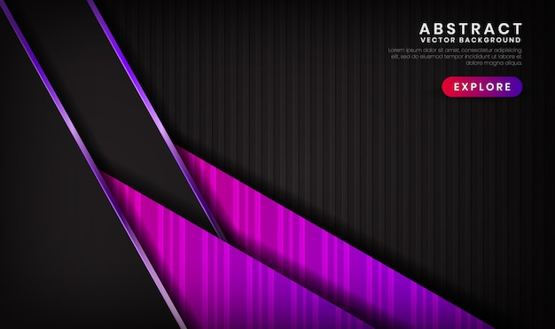 Abstract 3d black and purple luxury background with shiny effect