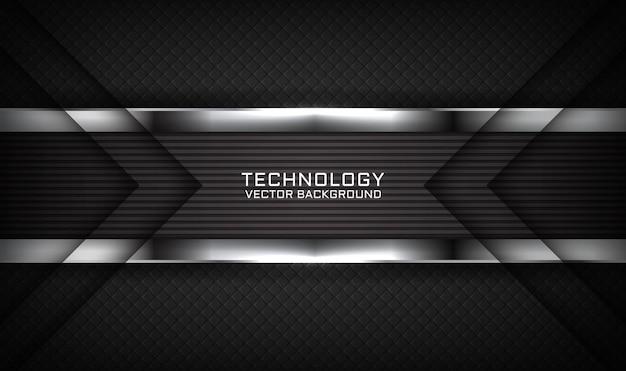 暗いに明るい効果を持つ抽象的な3d黒技術の背景