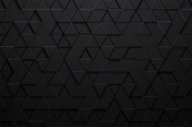 Abstract 3d black triangle background
