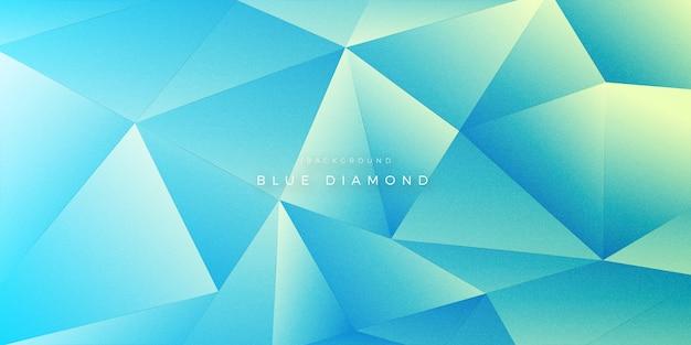 Абстрактный 3d blue diamond форма фона
