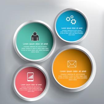 抽象的な3dサークルのインフォグラフィックスデザイン
