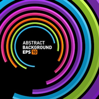 Абстрактные 3d круг линии в перспективе современный фон вектор.