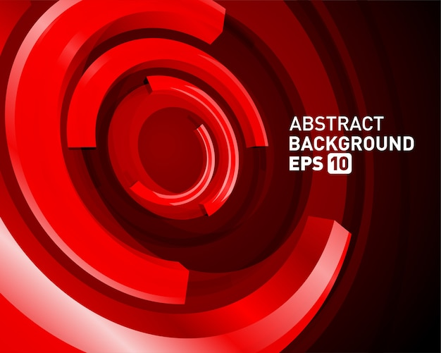 Abstract 3d circle lines in perspective modern vector background