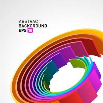 Abstract 3d circle lines in perspective modern vector background.