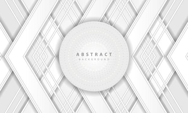 抽象的な3dサークル紙カットレイヤー白い背景。エレガントな円の形のデザイン。