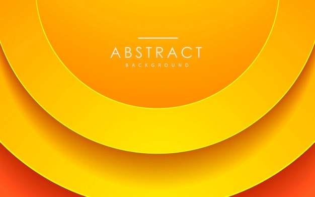Abstract 3d circle papercut orange background