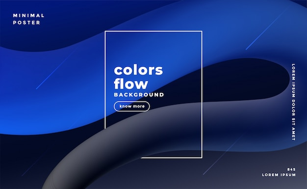 Abstract 3d dark background with fluid loop effect