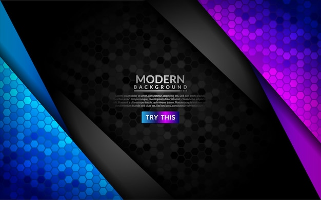 Abstract 3d dark background with purple and blue gradient.