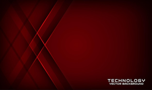 Abstract 3d dark red technology background overlap layer with geometric shapes