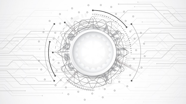Абстрактный 3d дизайн фон с технологией точка и линия печатной платы