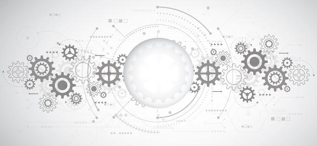 Абстрактный 3d дизайн фона с технологией