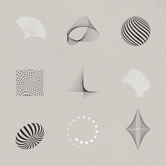 Abstract 3d design elements collection