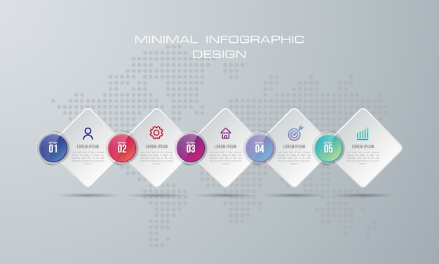 Abstract 3d digital illustration infographic. used for workflow layout, diagram, number options
