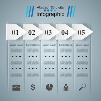 抽象的な3dデジタル画像infographic。