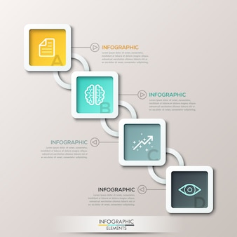 Abstract 3d digital illustration infographic