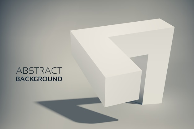 Forma geometrica astratta 3d
