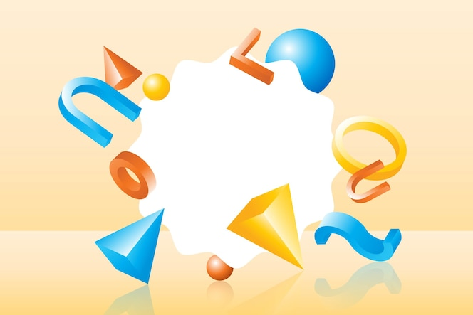 Abstract 3d geometric shapes background