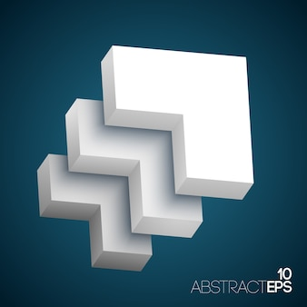 Abstract 3d geometric shapes set