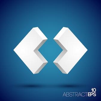 抽象的な3d幾何学的形状セット