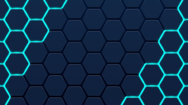 Abstract 3d hexagon background