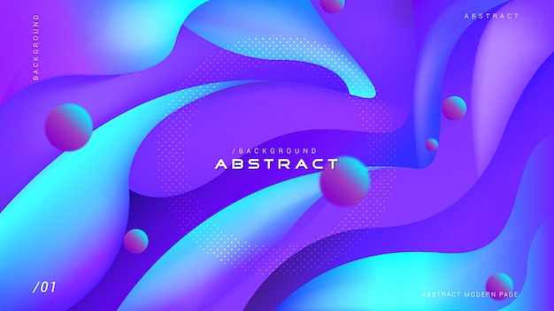 Abstract 3d liquid flowing background