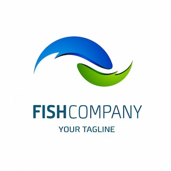 Fish company logo modello