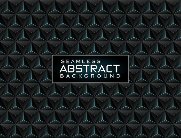 Abstract 3d metallic technology background with neon light green glowing a combination hexagon pattern composition