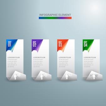 Abstract 3d modern digital template vertical banner.