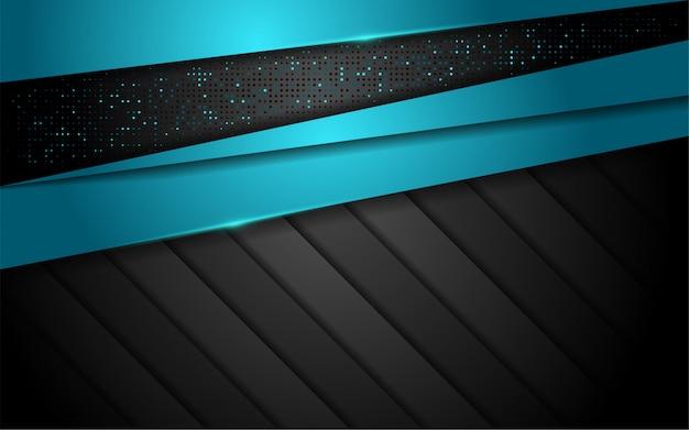 파란색 선 모양으로 추상 3d 오버랩 레이어 배경