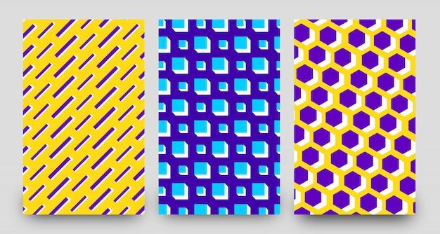 抽象的な3 dパターン背景テンプレートデザイン