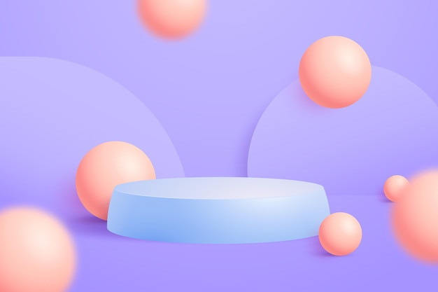 Abstract 3d podium background