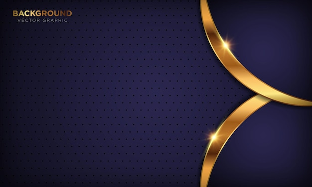 Abstract 3d purple luxury background with golden shiny line effect